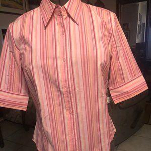 St. John's Bay Women Button Up Shirt Short Sleeves